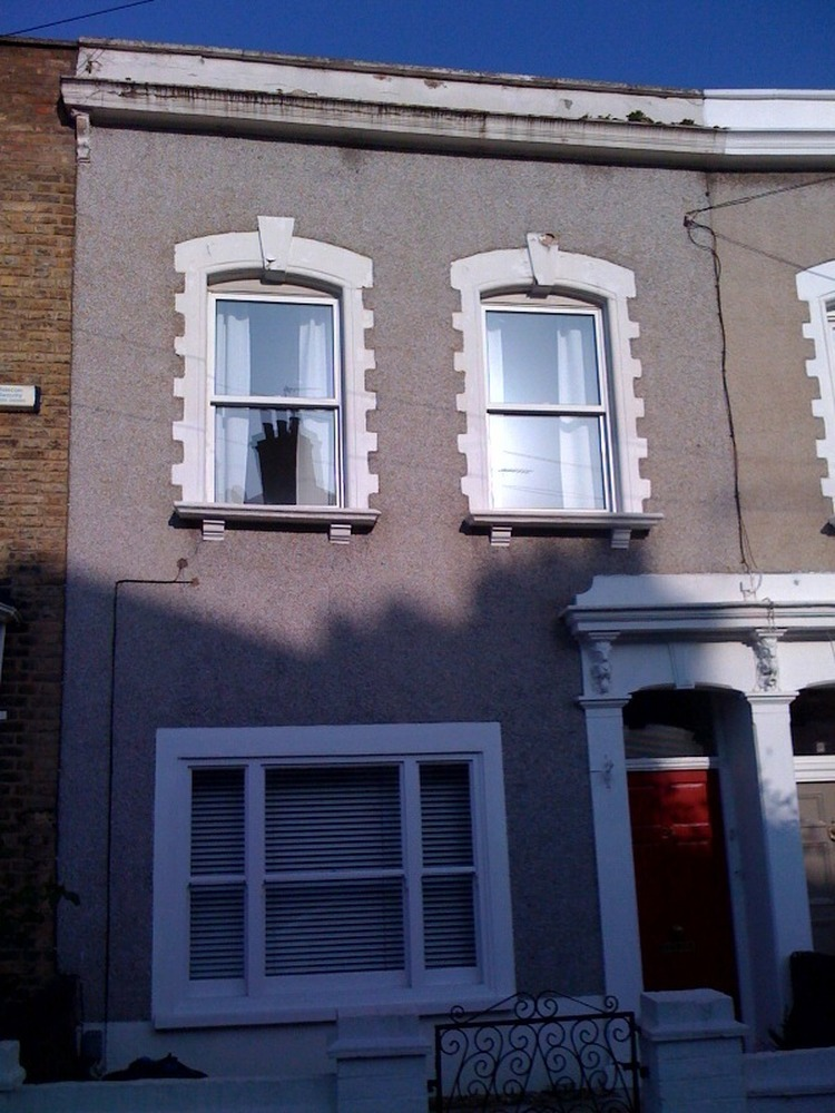 Repainting Exterior Parapet Window Openings Doorway