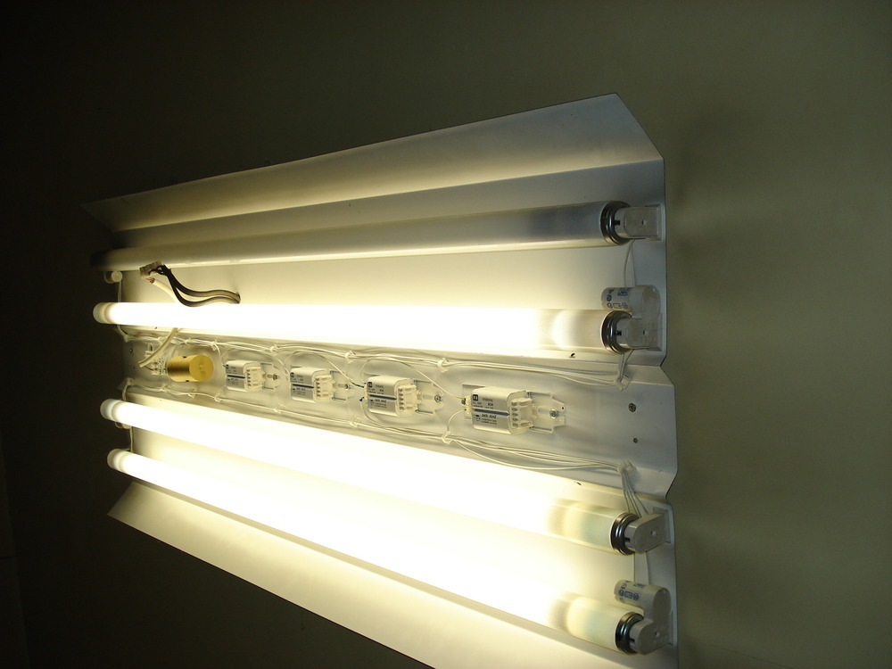 Remove Fluorescent Light Box And Replace Electrical Job