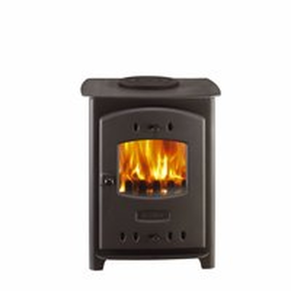 fit small solid fuel stove into open bedroom fireplace. Black Bedroom Furniture Sets. Home Design Ideas