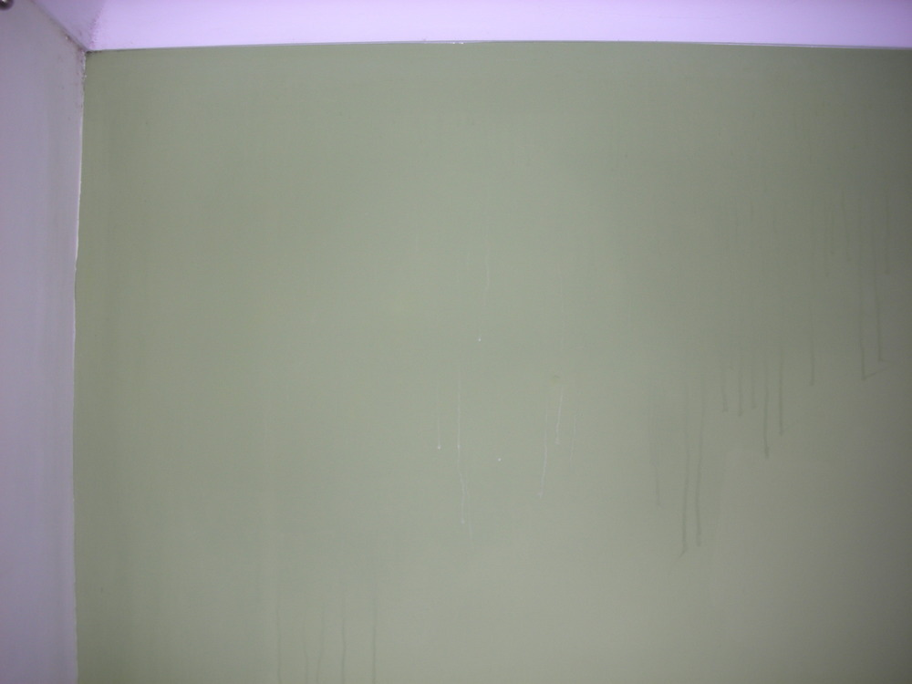 Water Streaks On Interior Wall And Spreading