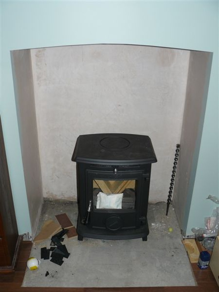 Install Aga Little Wenlock Stove Central Heating Job In
