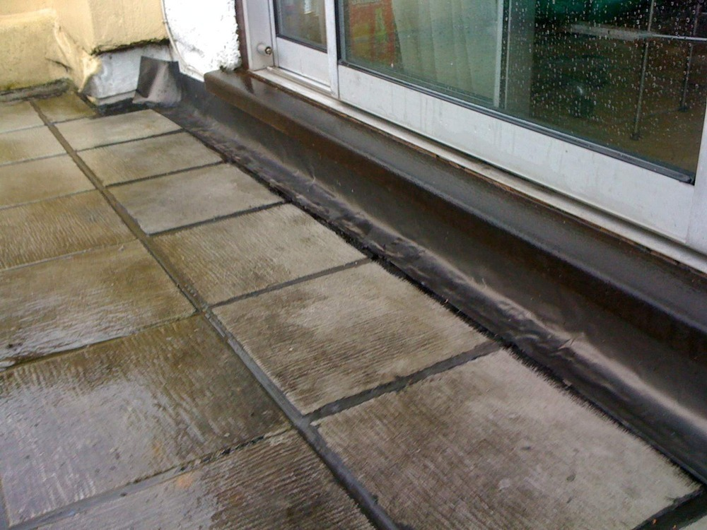 Leak In Paved Tile Roof Terrace Roofing Job In South