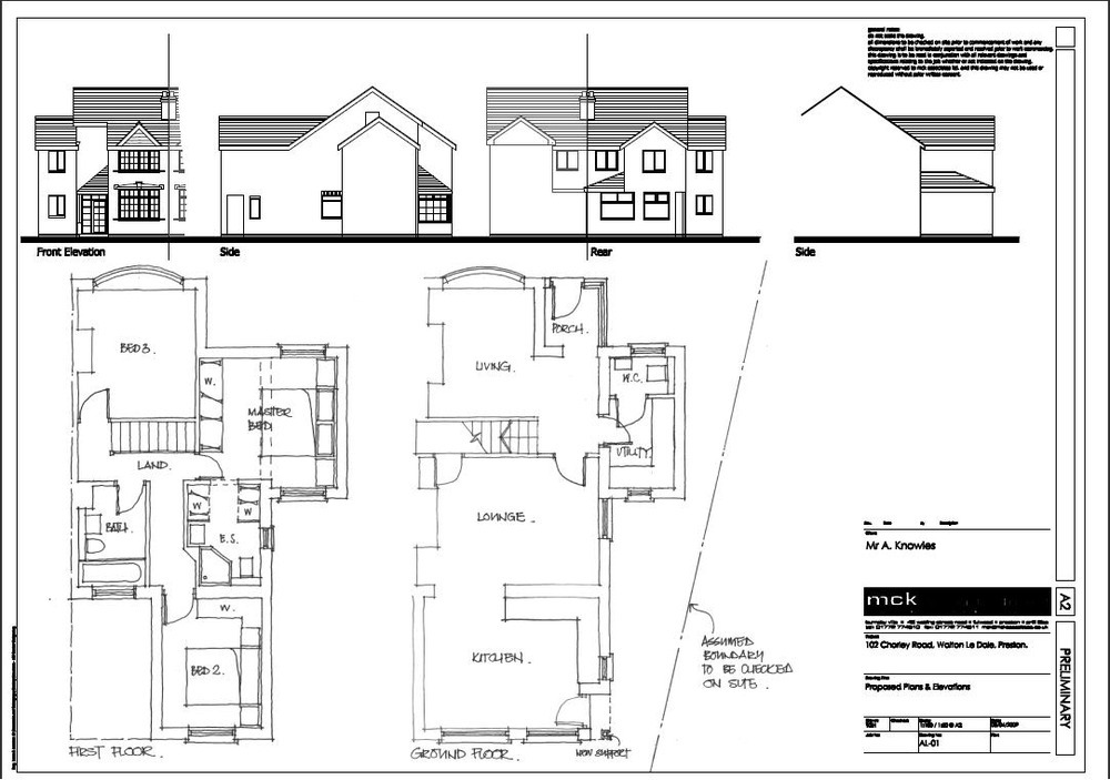 Extension to 1930 39 s semi detached house in preston for Floor plans for a semi detached house extension