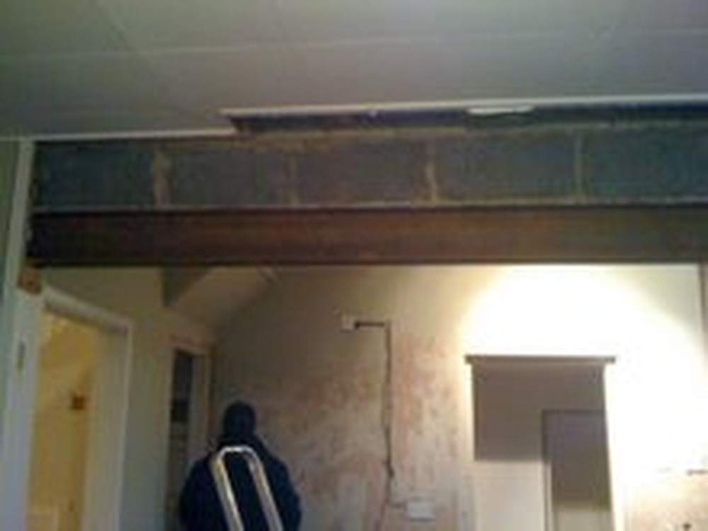 Plastering Wall And Boxing Amp Plastering Rsj I Beam