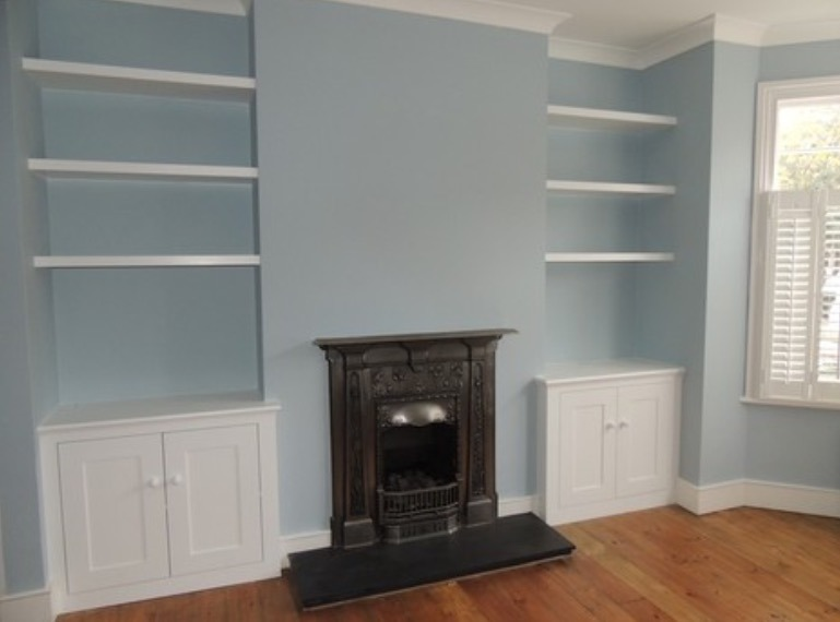 2 X Alcove Cupboards With 3 Floating Shelves Carpentry