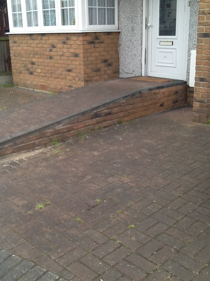 Remove Ramp And Build Semi Circle Steps In Front Door