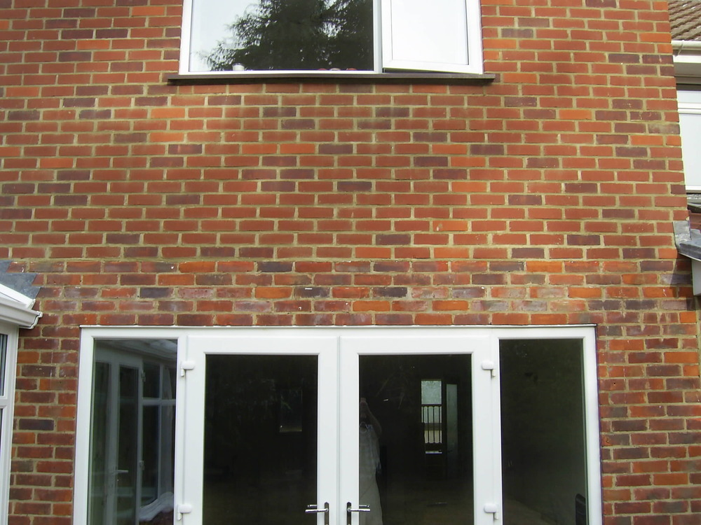 Install Lintel And French Doors On First Floor Windows