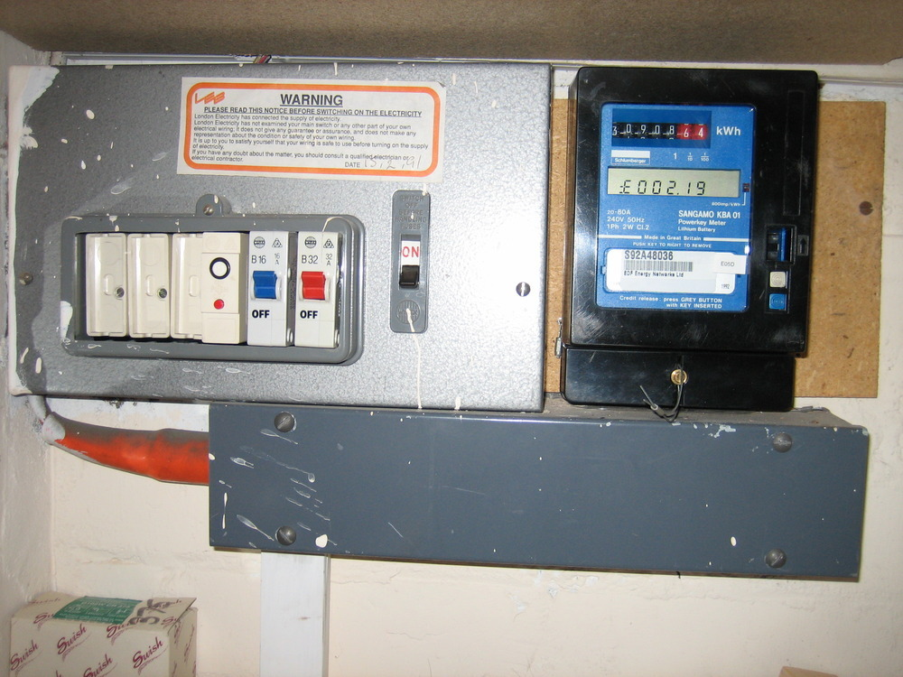 Install Isolator Between Consumer Unit Amp Electric Meter