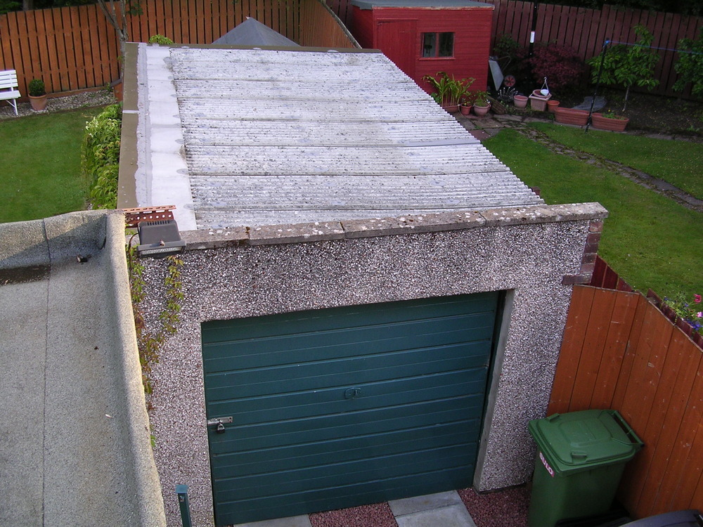 Replace Garage Roof Roofing Job In Glasgow Lanarkshire