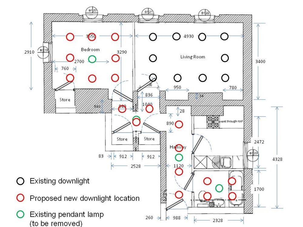 how to wire downlights diagram