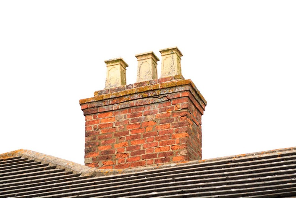 Repair of brickwork on chimney on victorian farmhs Victorian fireplace restoration