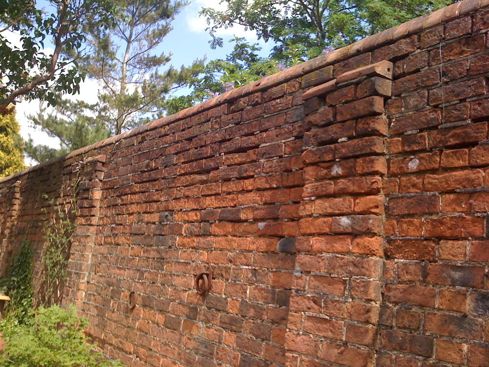 Repoint and repair victorian garden wall bricklaying job for Victorian garden walls designs