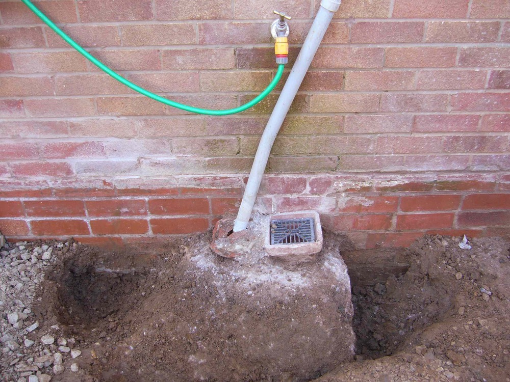 Concreted Gully Drain Removal Groundwork Amp Foundations