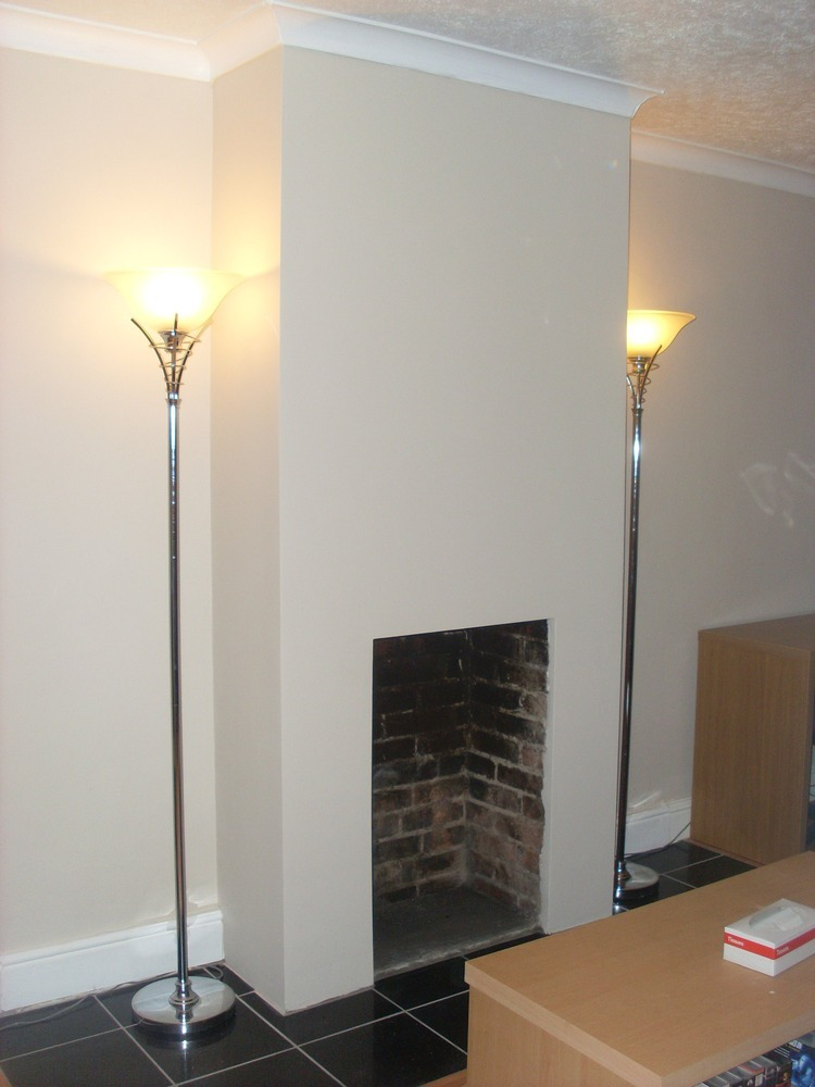 PLASTER CHIMNEY BREAST AND FIT FIREPLACE - Plastering job ...