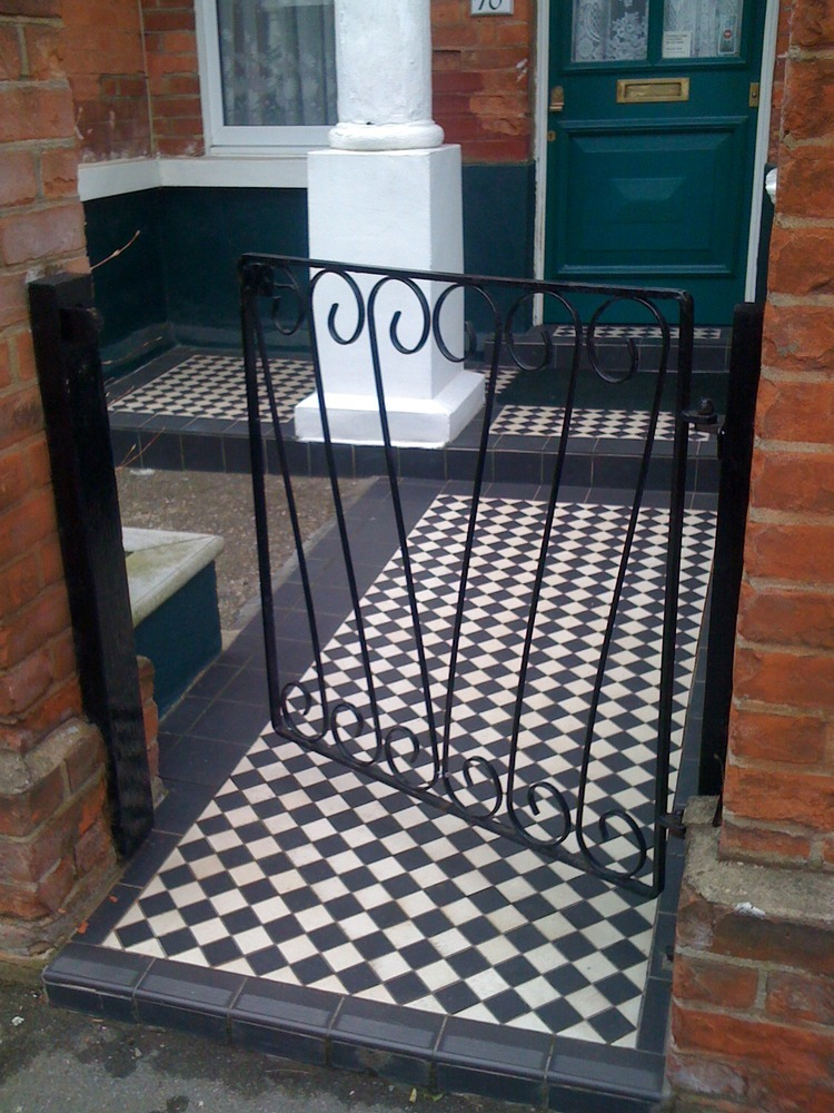 Laying Front Path Victorian Tiling In Se23 Approx 7sqm