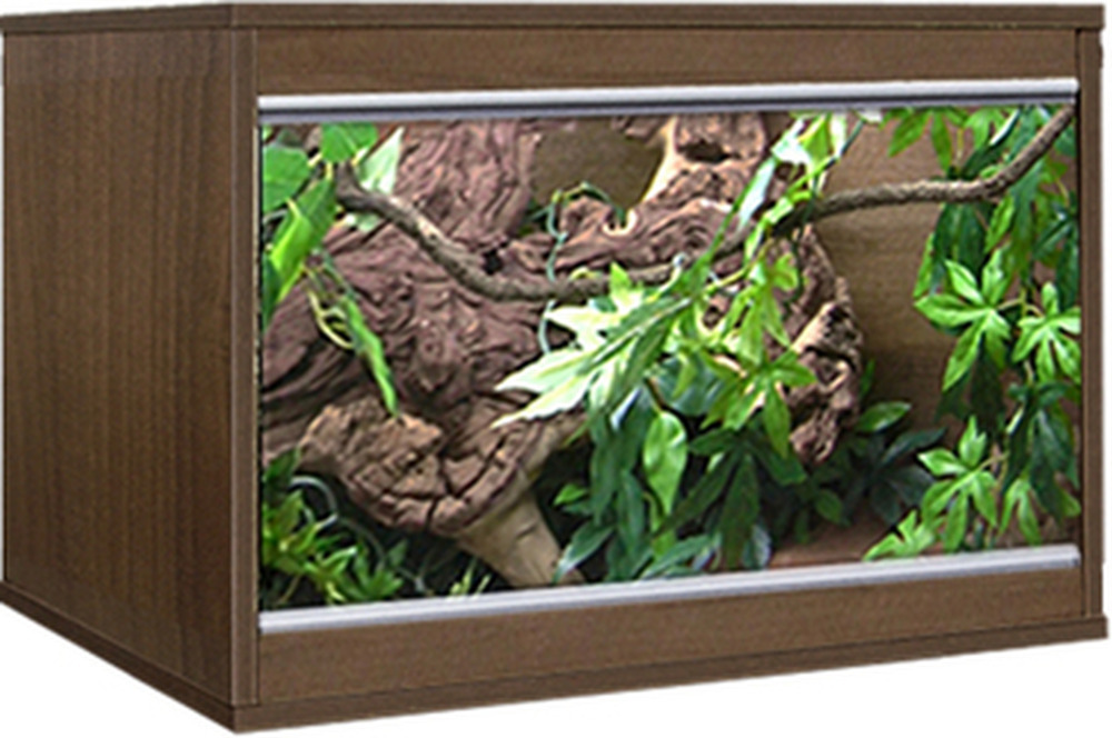 Custom Made Snake Tank Vivarium W Sliding Glass Doors