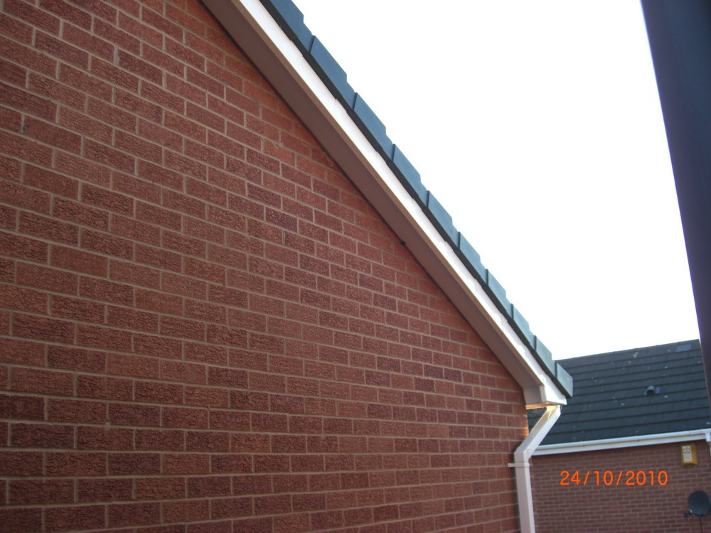 Plastic End Caps Need Fitting To Gable Ends Of Roof