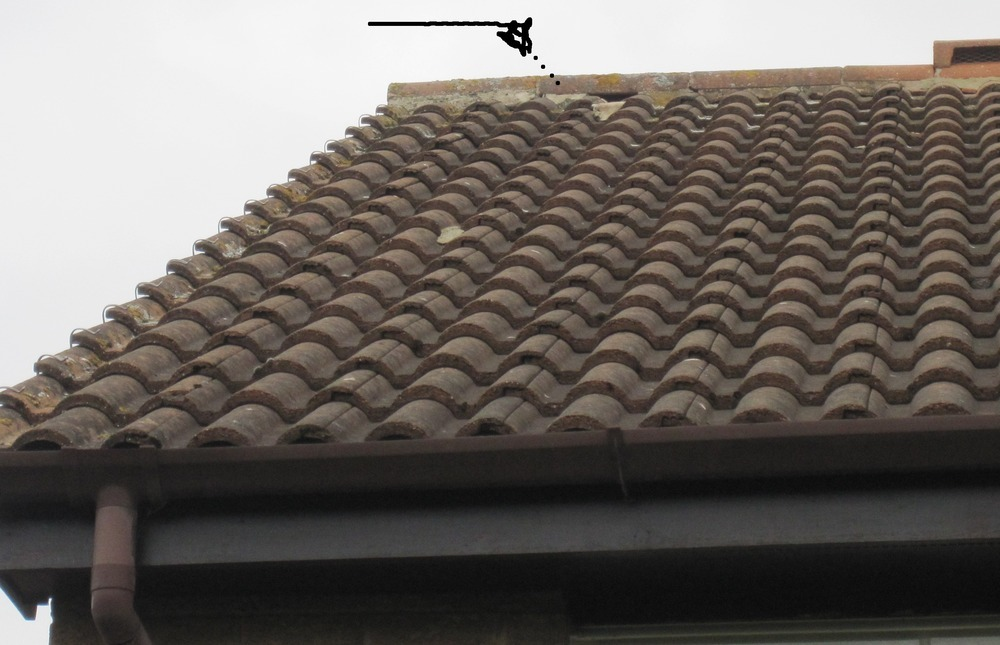 Ridge Tile On Roof Roofing Pitched Job In Harrogate