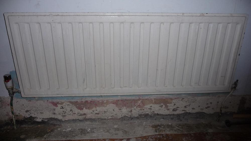 Tile Small Bathroom Wall Remove 2 Radiators Tiling Job