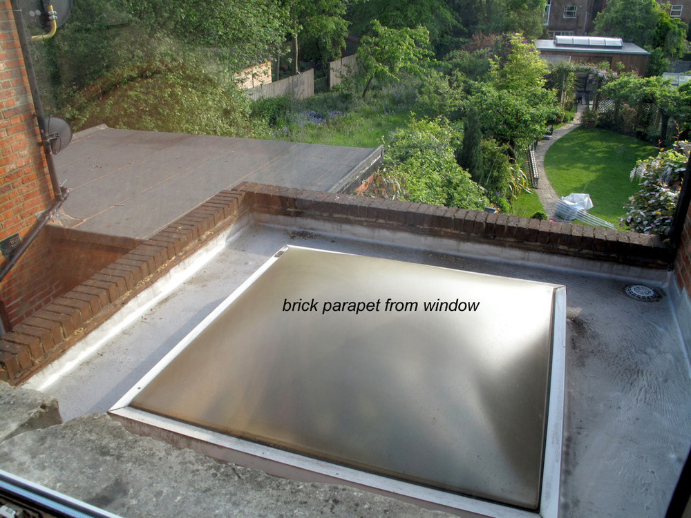 Flat Roof Brick Parapet Repair Bricklaying Job In