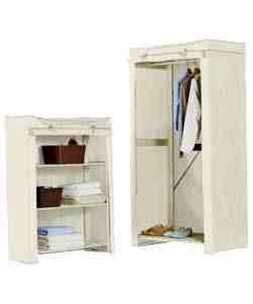small canvas wardrobe and shelf unit assembly handyman. Black Bedroom Furniture Sets. Home Design Ideas