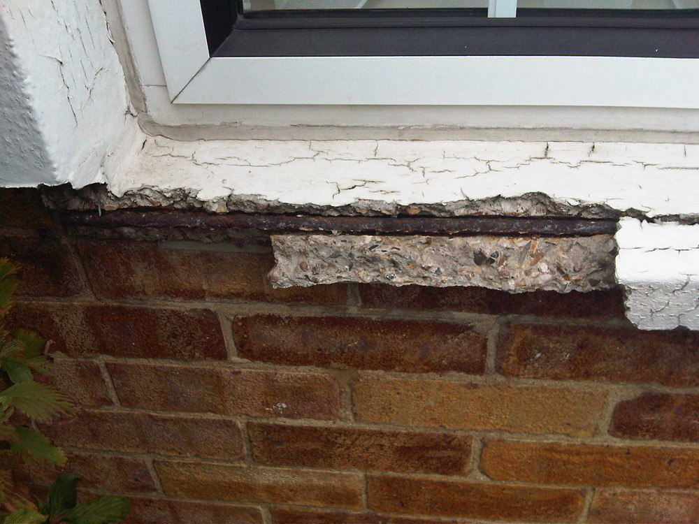 Repair Concrete Window Sill Which Is Crumbling