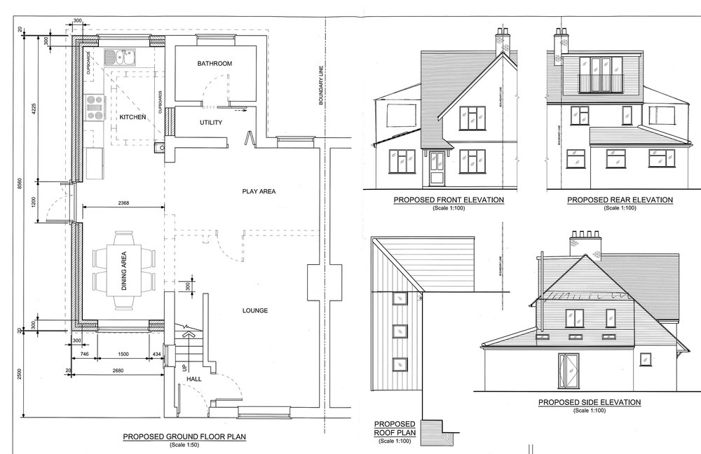 Single or two storey side extension extensions job in for Floor plans for a semi detached house extension