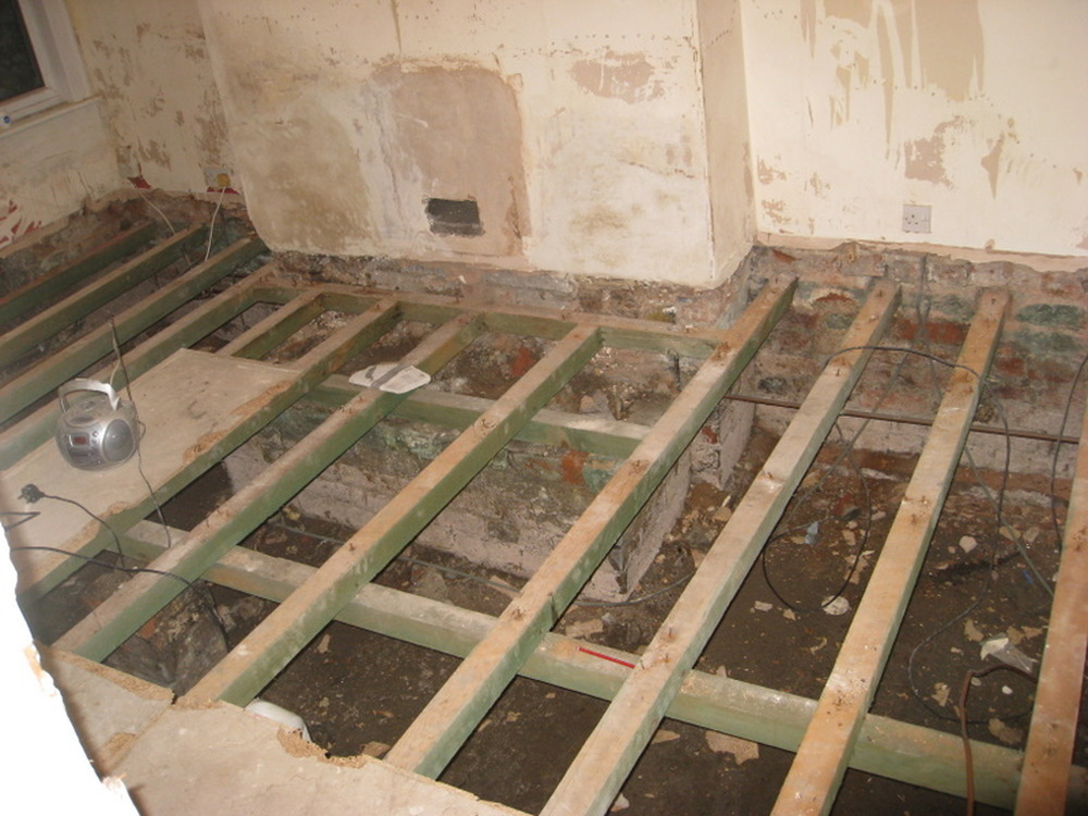 Strengthen Joists And Lay Chipboard T Amp G Flooring