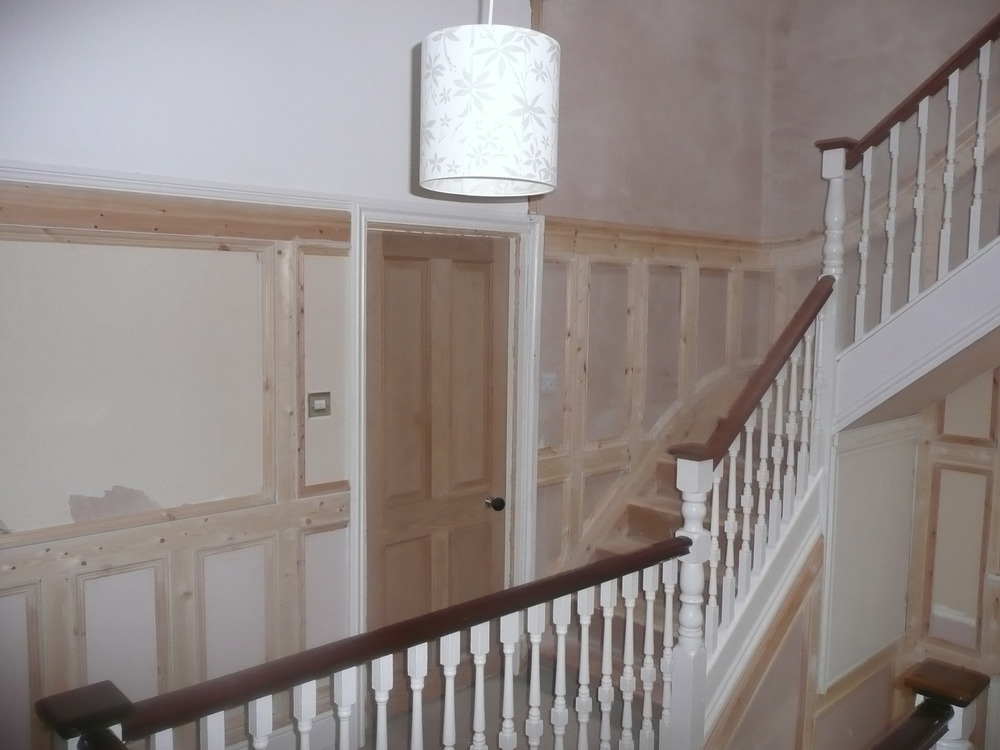 Paint Stairs Large Hallway Strip Line Paint 3 Rooms