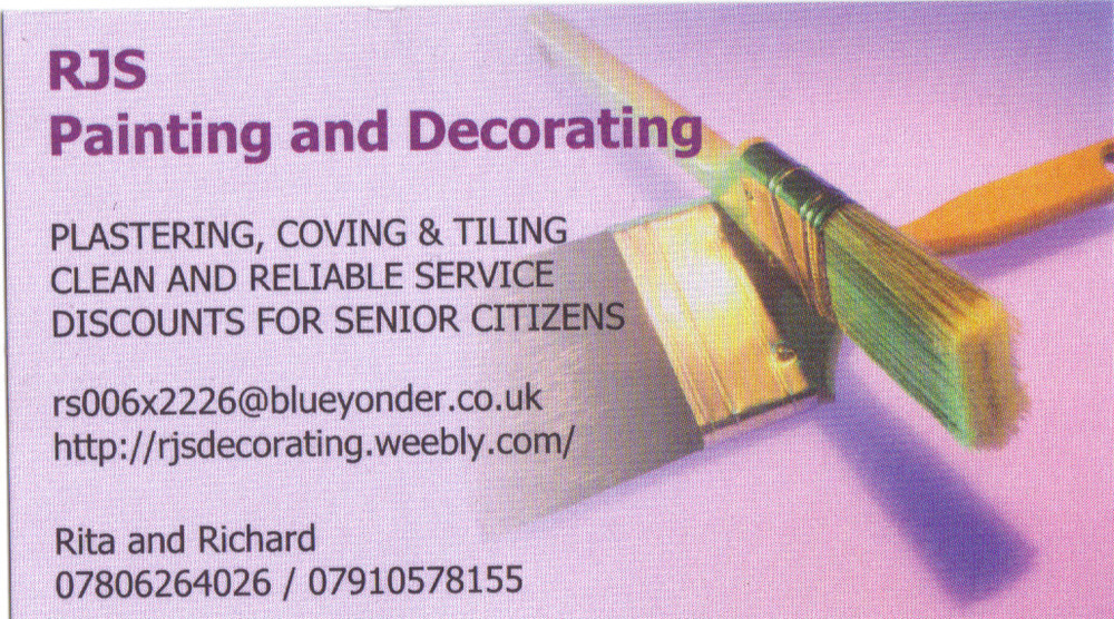 rjs painting and decorating painter decorator in gillingham. Black Bedroom Furniture Sets. Home Design Ideas
