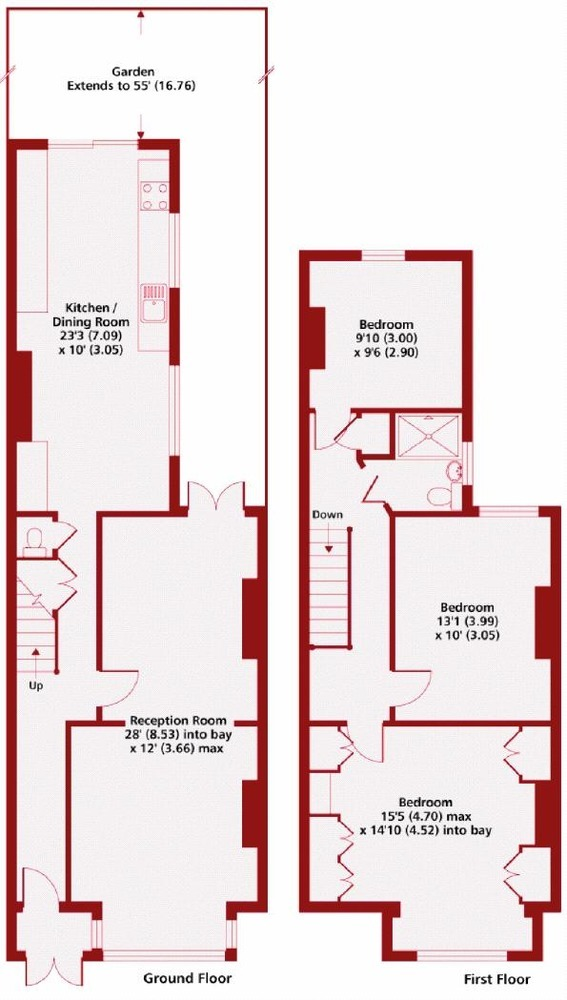 Terraced House Layout 1930's Terraced House