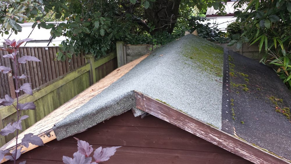 Refelt Garden Shed Roofing Job In Wilmslow Cheshire