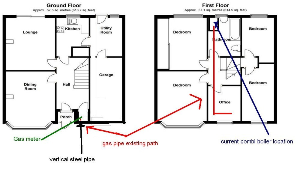 move my combi boiler  and plumb in new gas line