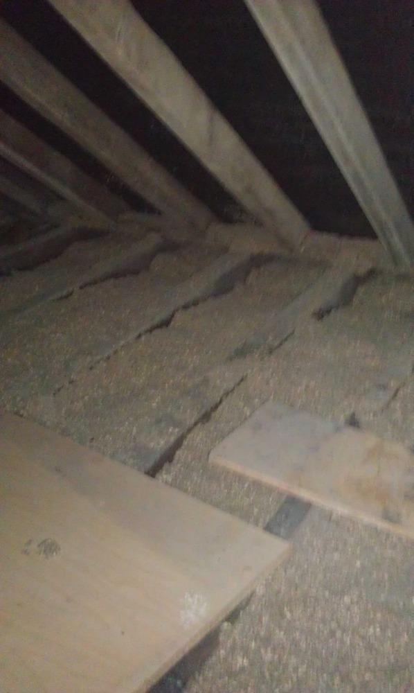 removal of old loose paper loft insulation insulation. Black Bedroom Furniture Sets. Home Design Ideas