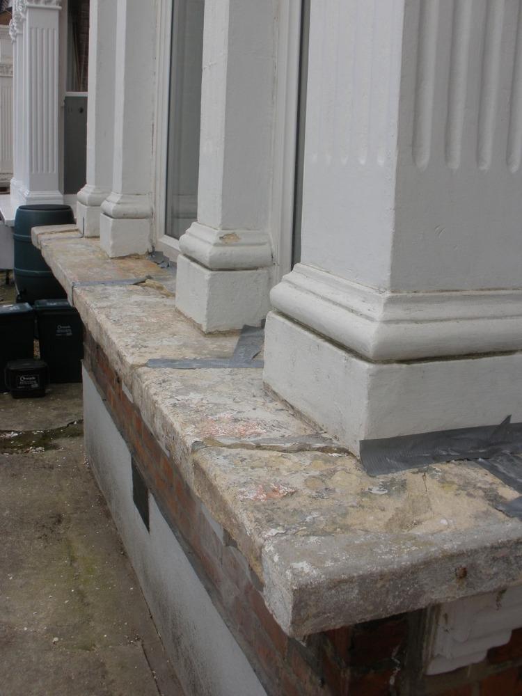 Repair Edwardian Bay Stone Window Sill Restoration