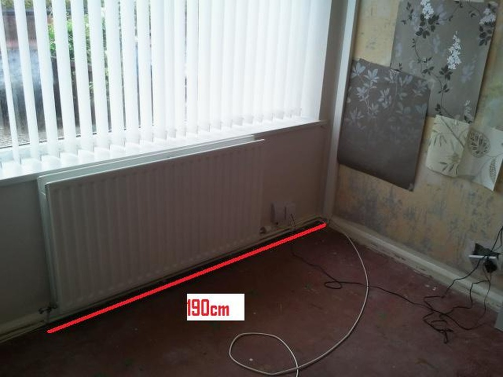 Chasing Pipes For Radiator Into Wall Floor Plumbing Job