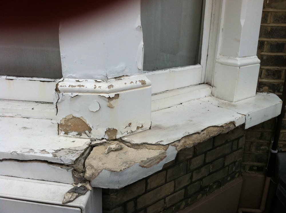 Rebuild Cracked Concrete Window Sill Handyman Job In