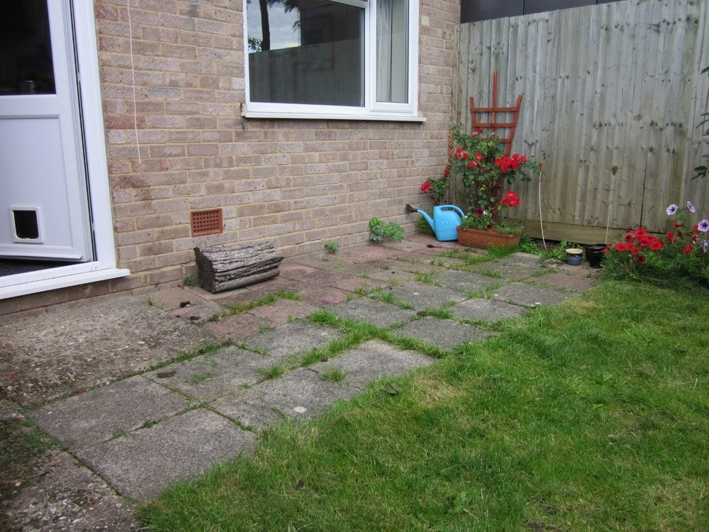 Replacement of small back garden patio driveways job in for Landscaping small back gardens