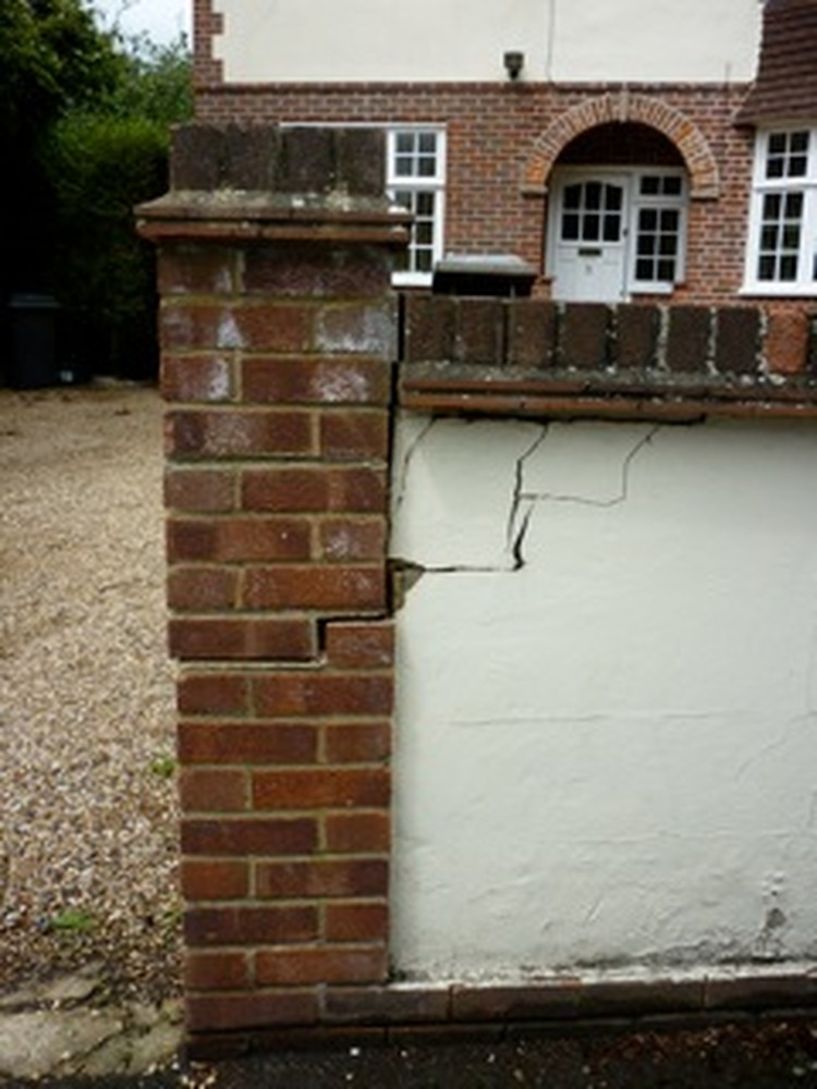 Repair To Brick Wall And Gate Pillar Bricklaying Job In