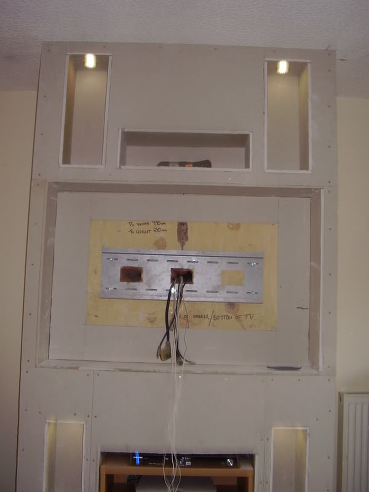 How Do Led Lights Work >> Gas Fire Removed,Chimney Breast Extended to fit TV, etc - Chimneys & Fireplaces job in Bolton ...