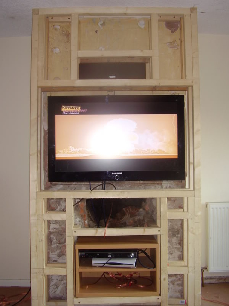 Gas Fire Removed Chimney Breast Extended To Fit Tv Etc