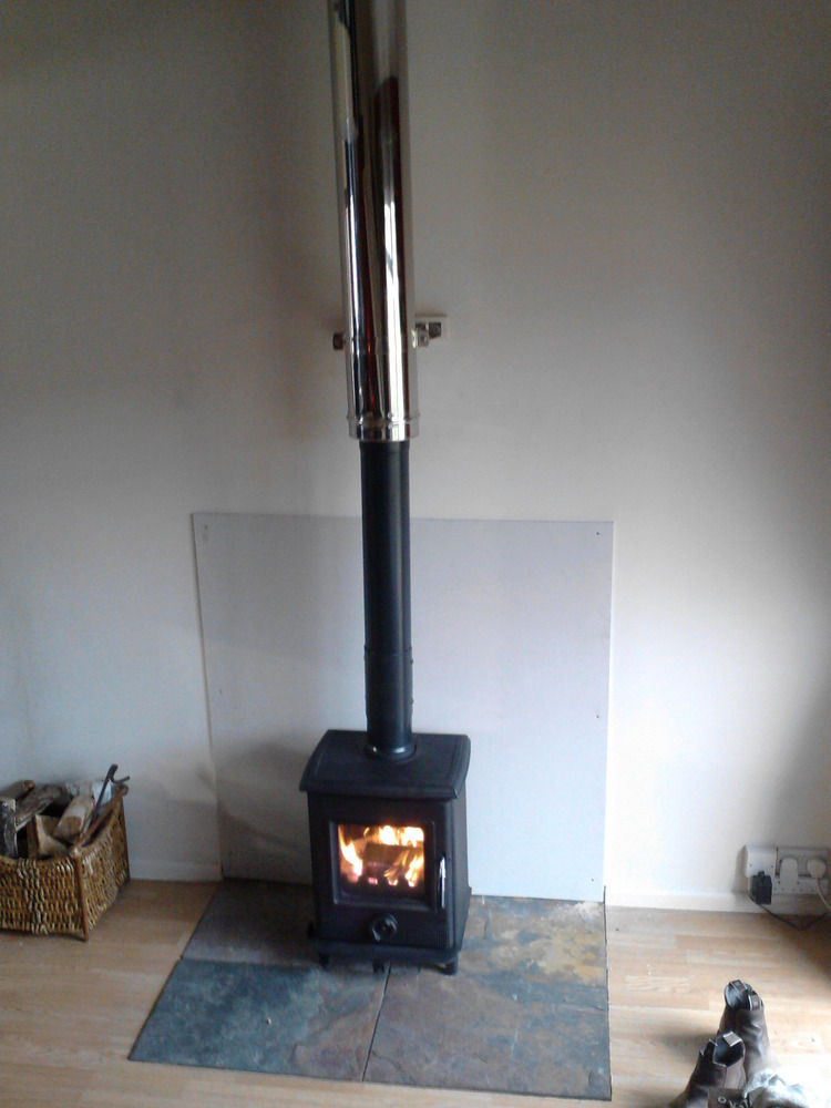 photo gallery. family room wood burning stove ... - Adding A Wood Stove To Your Home. Free Standing Wood Burning