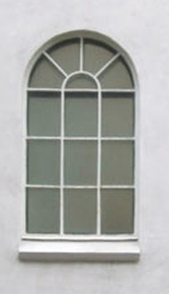 Fit A Tall Arched Window On Front Of House Windows