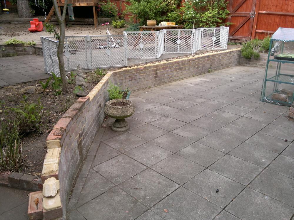 Replace 2 Brick Retaining Walls With Sleeper Walls. - Landscape Gardening Job In Bordon ...