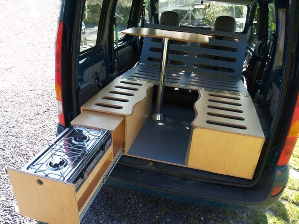 Small Van Camper Conversion Made From Wood Carpentry Job