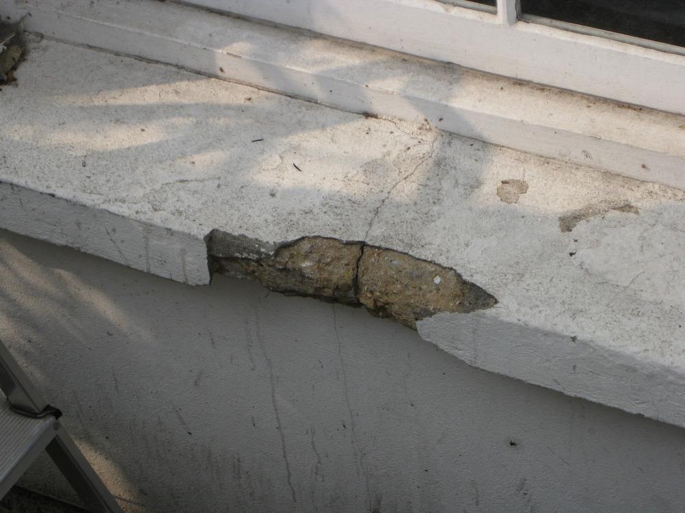 Crumbling Concrete Stone Windowsill Stonemasonry Job In Hackney Wick East London Mybuilder