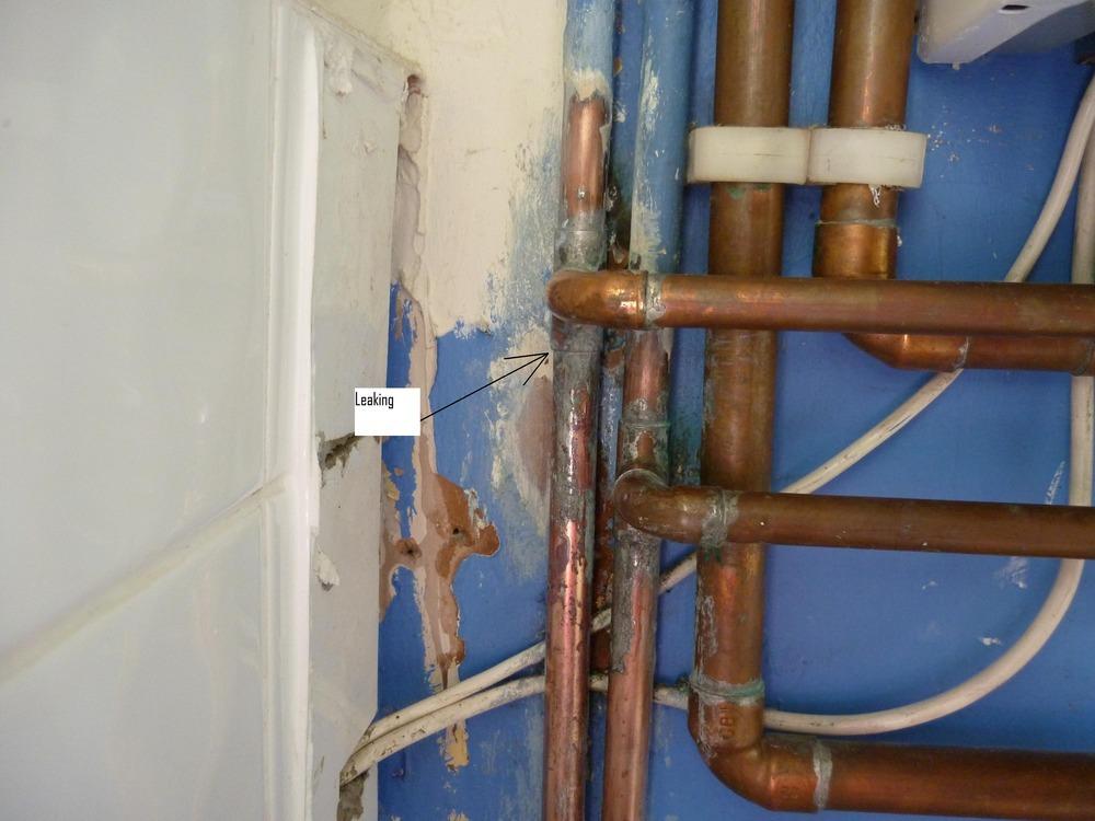 Replace Leaking Hot Water Pipe From Boiler Plumbing Job
