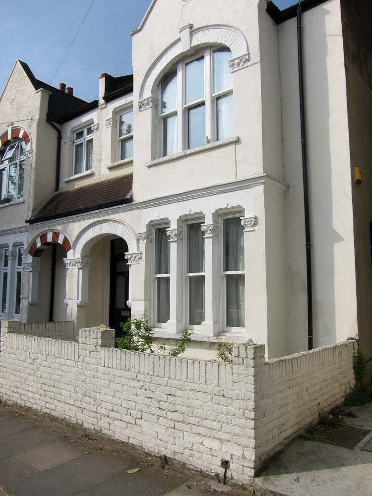 Paint Front Of House Windows And Render Garden Wall