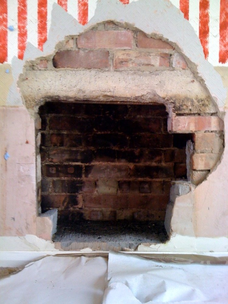 Opening Up Fireplace For A Wood Burning Stove Chimneys