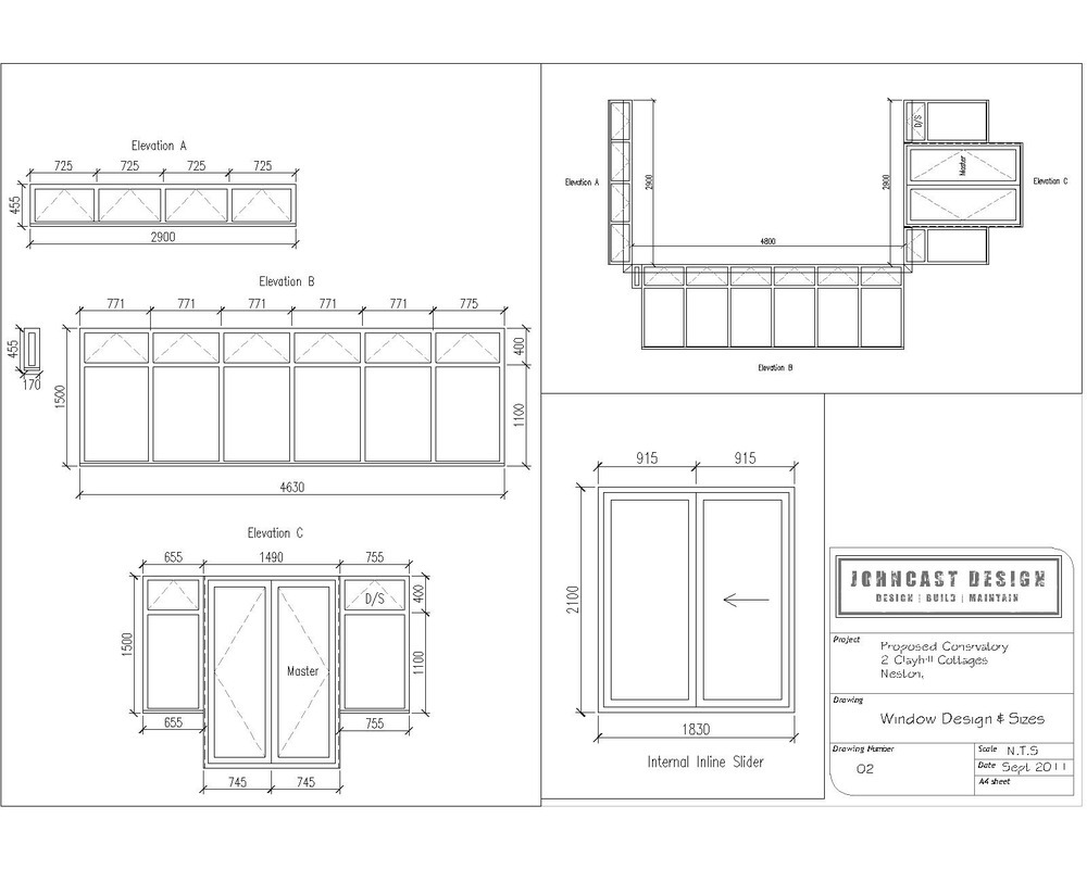 Architectural Drawing Window johncast design limited: 100% feedback, architectural designer in